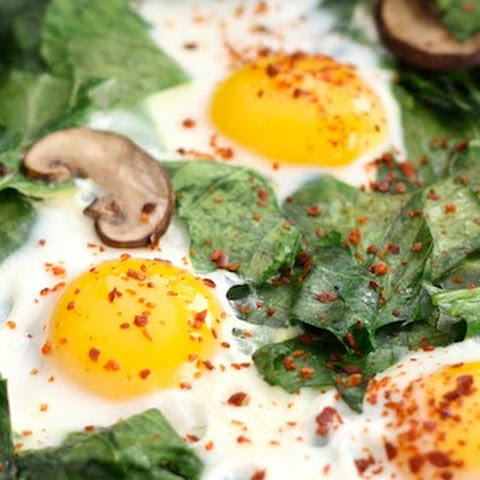 Skillet Collards with Mushrooms and Eggs