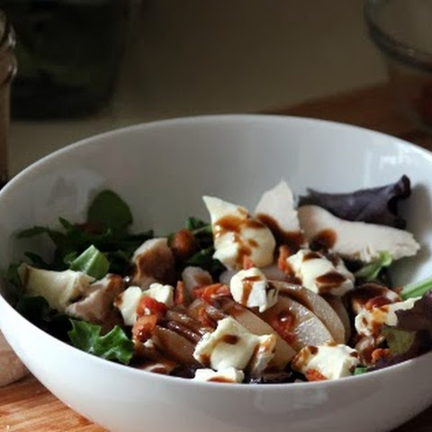 Poached Pear & Brie Salad