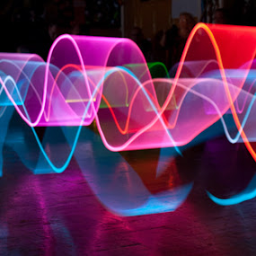 Light Wave by Andro Andrejevic - Abstract Light Painting ( abstract, painting by light, light painting, indoors )