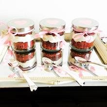 Red Velvet Jar Desserts