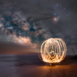 Cosmic Fireball by Andy Taber - Abstract Fire & Fireworks