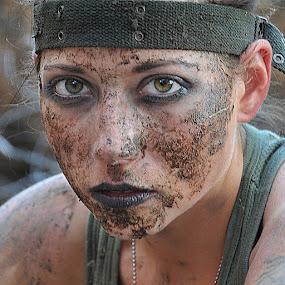One tough woman by Aaron Blackburn - People Portraits of Women ( , Model, Portrait, Untouched, Unedited, Non-photoshop )