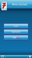 Screenshot of Télé 7 Jeux - Mots fléchés