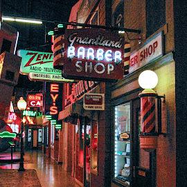 by Pat Lasley - City,  Street & Park  Street Scenes ( signs, neon )