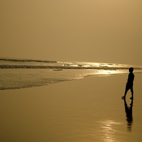 Golden Beach by Priyank Jha - Landscapes Beaches ( nikon d5100, nature, puri, india, beach, landscape, World, Beauty, Beautiful, Representing, Special )