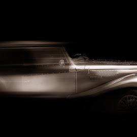 by Plamen Mirchev - Digital Art Things ( car, old, retro, dark, silver, speed )