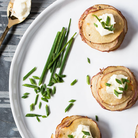 Sour Cream and Chive Potato Stacks