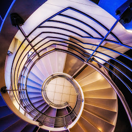 St James's Staircase by Adam Lang - Buildings & Architecture Architectural Detail ( circular, hdr, staircase, spiral, st james park )