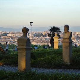 VIEW ON ROMA by Wojtylak Maria - City,  Street & Park  Vistas ( roma, monuments, park, view, town )