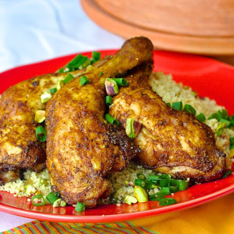 Baked Moroccan Chicken with Pistachio Lemon Couscous