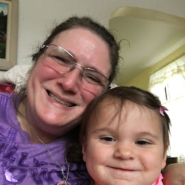 Selfie with Nana by Kristine Nicholas - Novices Only Portraits & People ( hugs, glasses, hug, hugging, infant, jewelry, people, grandmother, kid, selfie, love, child, grandchild, girl, woman, family, granddaughter, lady, baby, toddler, necklace )