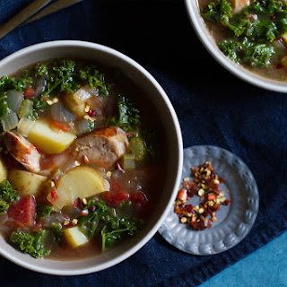 Roasted Tomato, Kale, and Sausage Soup