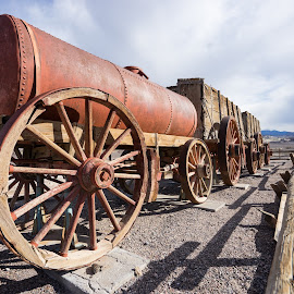 Harmony Borax Works Death Valley by Jose Matutina - Transportation Other ( death valley, mining, desert, park, national, wagon, ghost town, united states, sony a7ii, history, 6, mine, sel1635z, historical, harmony borax works, gold, trip, antiques,  )