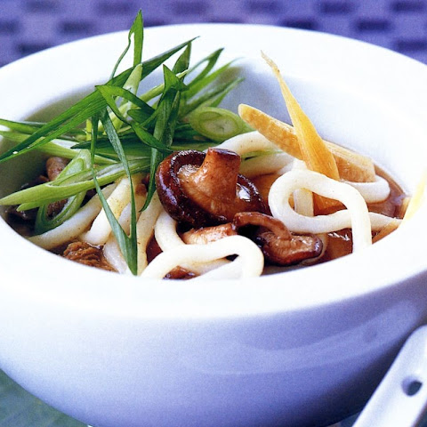 Udon Broth With Beef And Mushrooms
