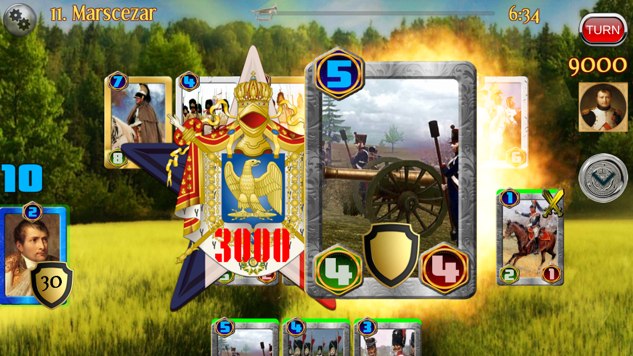 Napoleon War Cards Screenshot 0