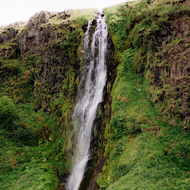 Waterfall in Iceland by Philip Rugel - Landscapes Waterscapes