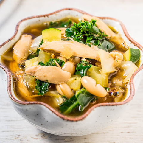 Easy 30-Minute Kale, White Bean, and Chicken Soup