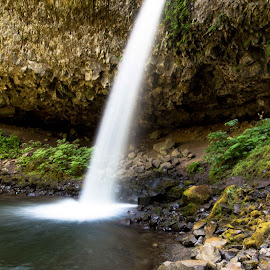 Ponytail Falls by Greg Head - Novices Only Landscapes ( water, oregon, waterfall, long exposure, rocks )