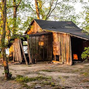 Old Shack on Lake Koshkonong by Jason Lockhart - Buildings & Architecture Decaying & Abandoned ( wisconsin, sandbar, twilight, lake koshkonong, old shack, fort atkinson )