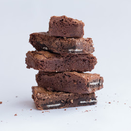 Chocolate Brownies by Holly Ring - Food & Drink Candy & Dessert ( cookie, chocolate, food, baking, brownies,  )