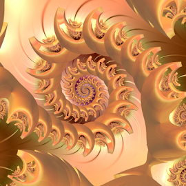Playfulness by Cassy 67 - Illustration Abstract & Patterns ( playful, swirl, wallpaper, spiral, digital, wormhole, fractal art, digital art, gold, fractal, light, fractals, energy )