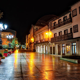 After the rain  by Agustin Alonso - City,  Street & Park  Night ( #city #night #lights #street #hdr #rain )