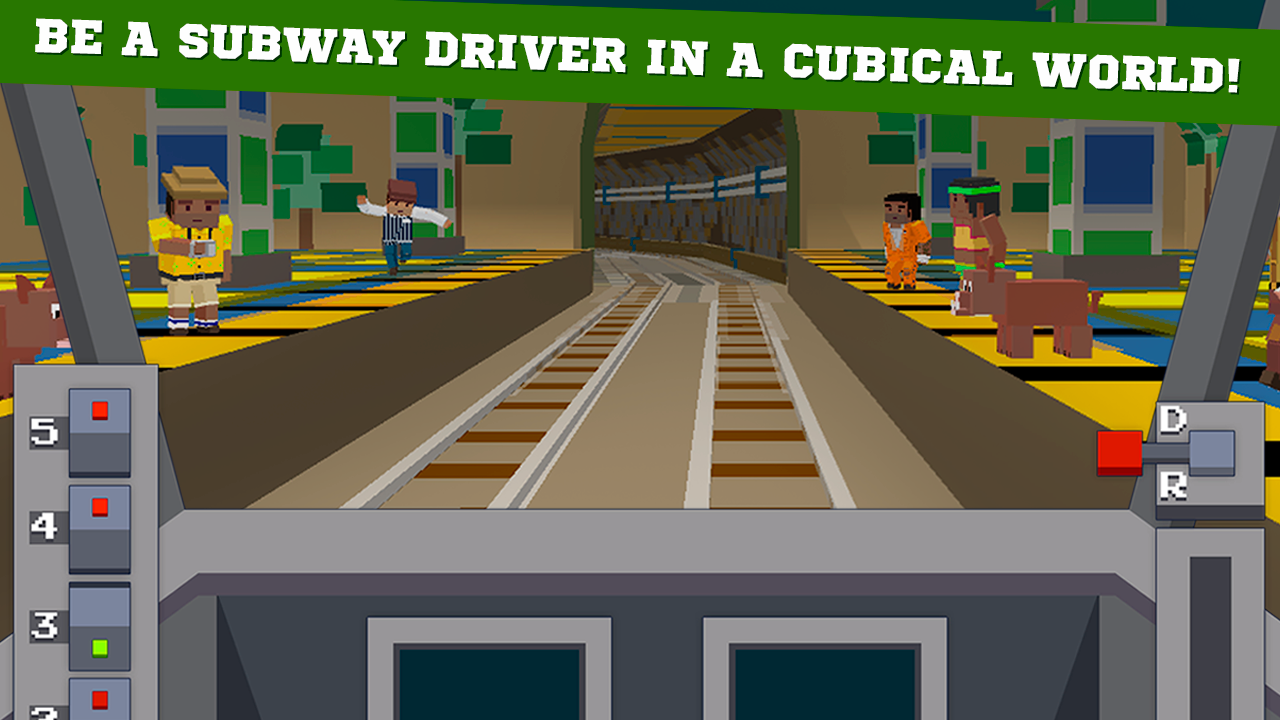 Cube Subway Train Simulator 3D Screenshot