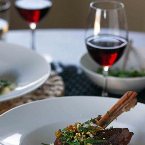 Braised Lamb Shanks with Citrus-Mint Gremolata
