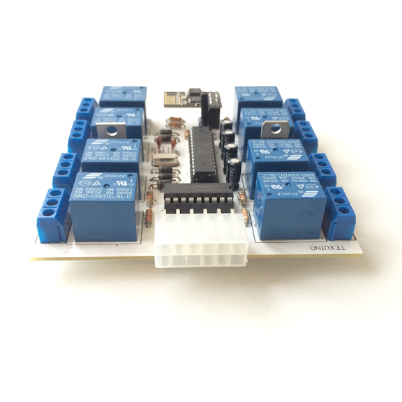 Texuino 8 channel Wi-Fi Relay Board
