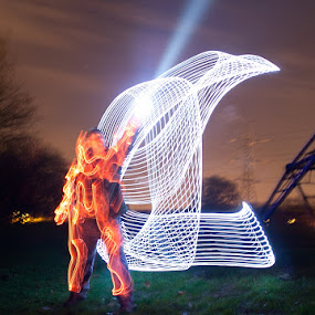Spaceman by Andro Andrejevic - Abstract Light Painting ( painting by light, light painting, long exposure )
