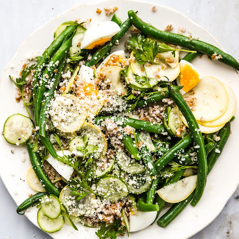 Haricots Verts with Summer Squash and 8-Minute Eggs