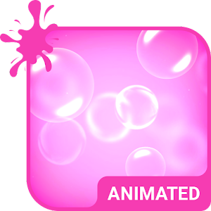Pink Bubbles Animated Keyboard