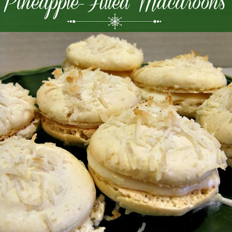 Pineapple Filled Macaroons