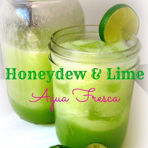 Honeydew & Lime Agua Fresca (Honey Sweetened)