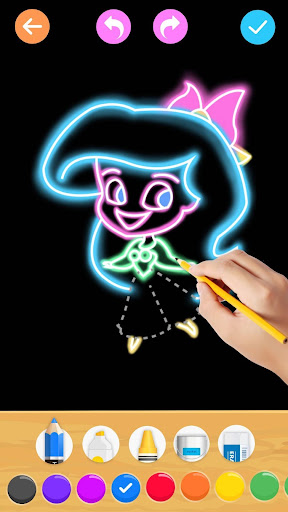 Draw Glow Princess For PC