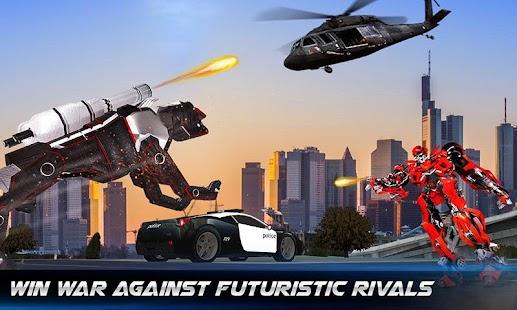 US Police Transform Robot Car Cop Dog: Robot game for pc