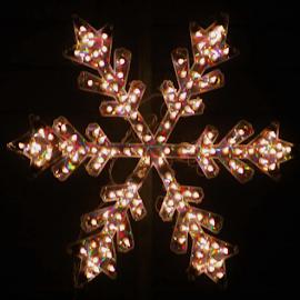 Christmas Star by Leah Zisserson - Public Holidays Christmas ( snowflake, star, electric, neighborhood scene, virginia, decoration, christmas, lights )