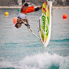 Trick by Viktoryia Vinnikava - Sports & Fitness Watersports ( water, watersports, trick, man, scooter, upside down )