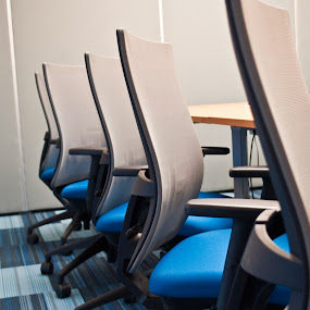 chairs by Infected Gallery - Products & Objects Business Objects ( modern, office, interior, conference room, in a row, chairs, furniture )