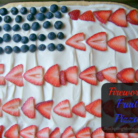 Fireworks Fruit Pizza