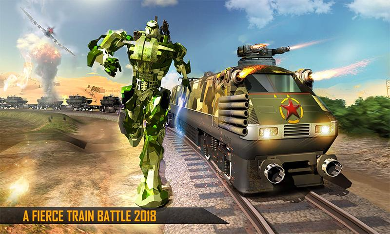 Futuristischer Zug - Army Robot Transformer android spiele download