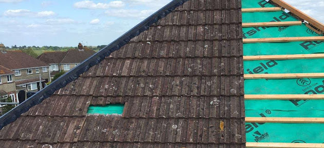 Re-roof with new felt & batten