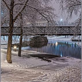 Winter Wonderland by Jason Brown - City,  Street & Park  City Parks ( winter, park, snow, path )