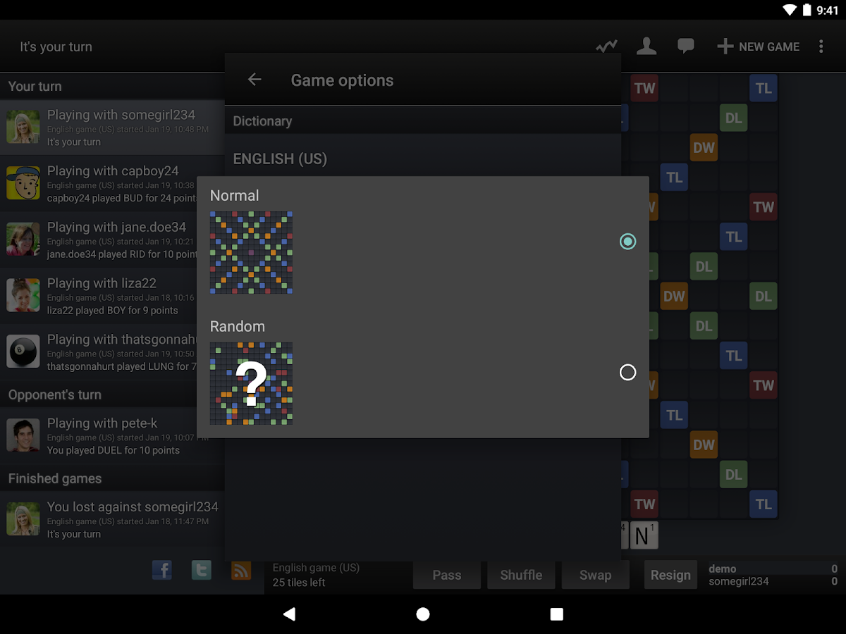 Wordfeud Screenshot 12