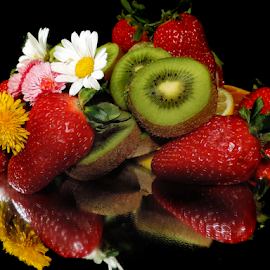 fruits with flowers by LADOCKi Elvira - Food & Drink Fruits & Vegetables ( flowers, garden )
