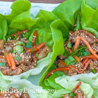 Teriyaki Chicken Lettuce Wrap