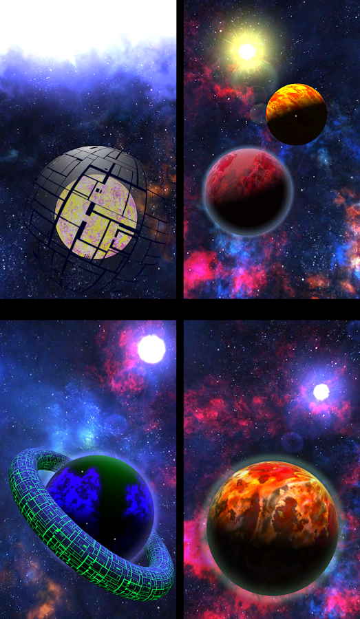3D Space Planets LWP Screenshot 4
