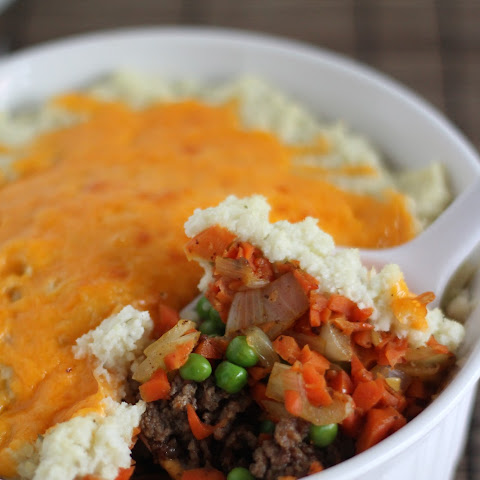 Shepherds Pie with Cauliflower Mashed Potatoes