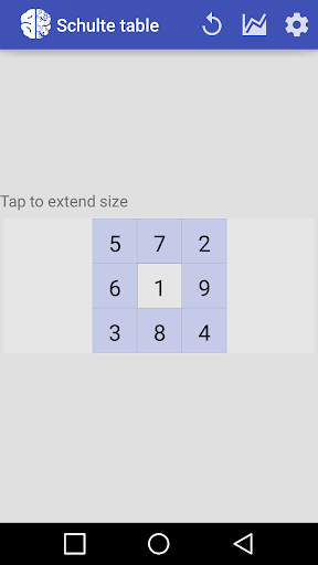 Schulte Table - screenshot