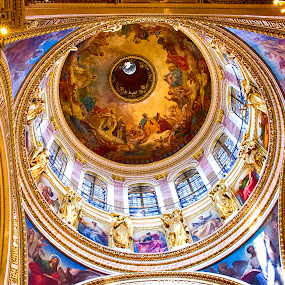 Painted Dome by Pravine Chester - Buildings & Architecture Other Interior ( interior, building, st isaacs cathedral, russia, church, saint petersburg, cathedral, architecture, painting,  )